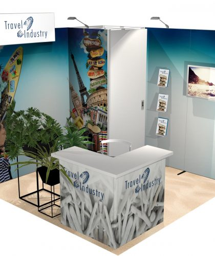 Création stand modulaire en tissus panoramic Bomg Luxembourg