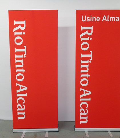 Impression roll up banner luxembourg Bomg Concept